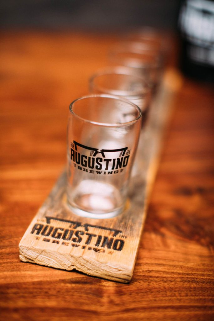 Augustino Brewing Company Serves Craft beer flights