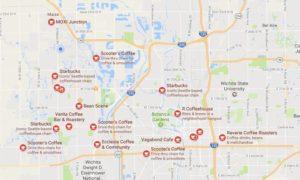 Coffee Shop Map Wichita Kansas